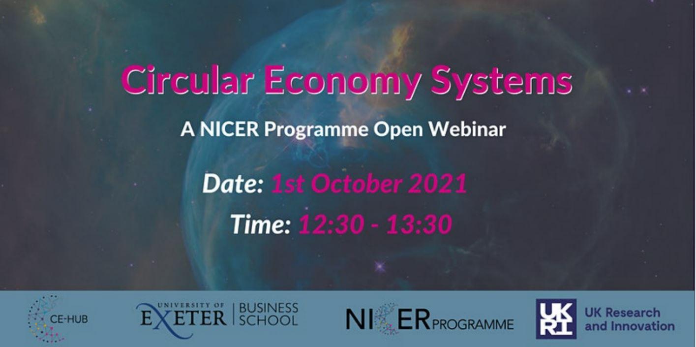 Open Webinar – Circular Economy Systems